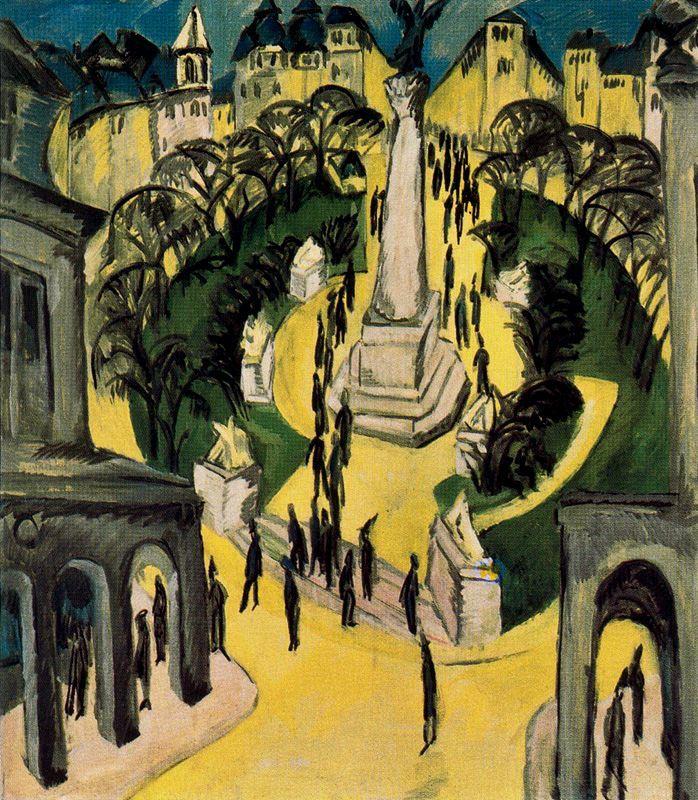 Ernst Ludwig Kirchner - Page 2 Ernst_Ludwig_Kirchner_-_Der_Belle-Alliance-Platz_in_Berlin