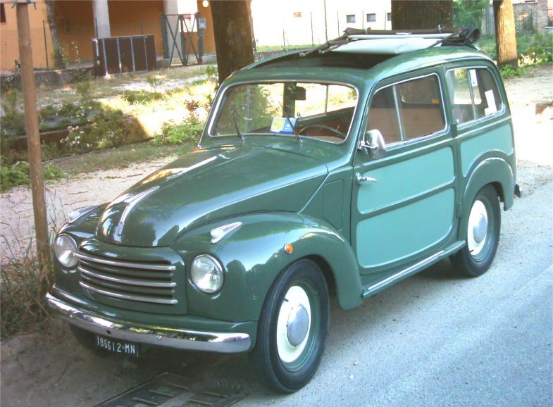 oscar's classic model cars collection: 1954 fiat 500 belvedere