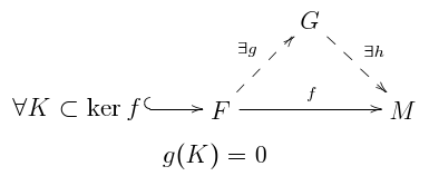 Factor property of a flat module