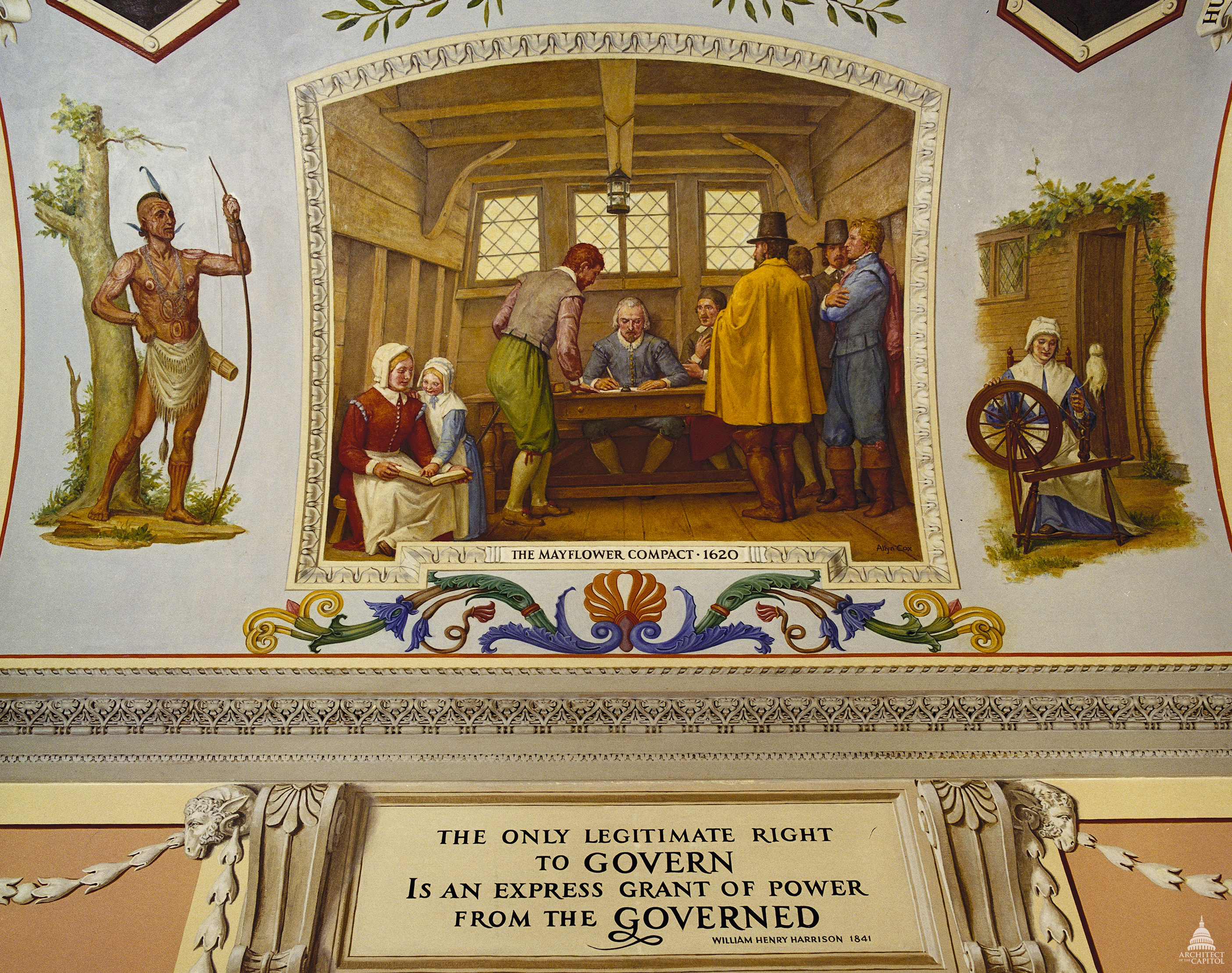 Architect of the Capitol photograph, Signing of the Mayflower Compact