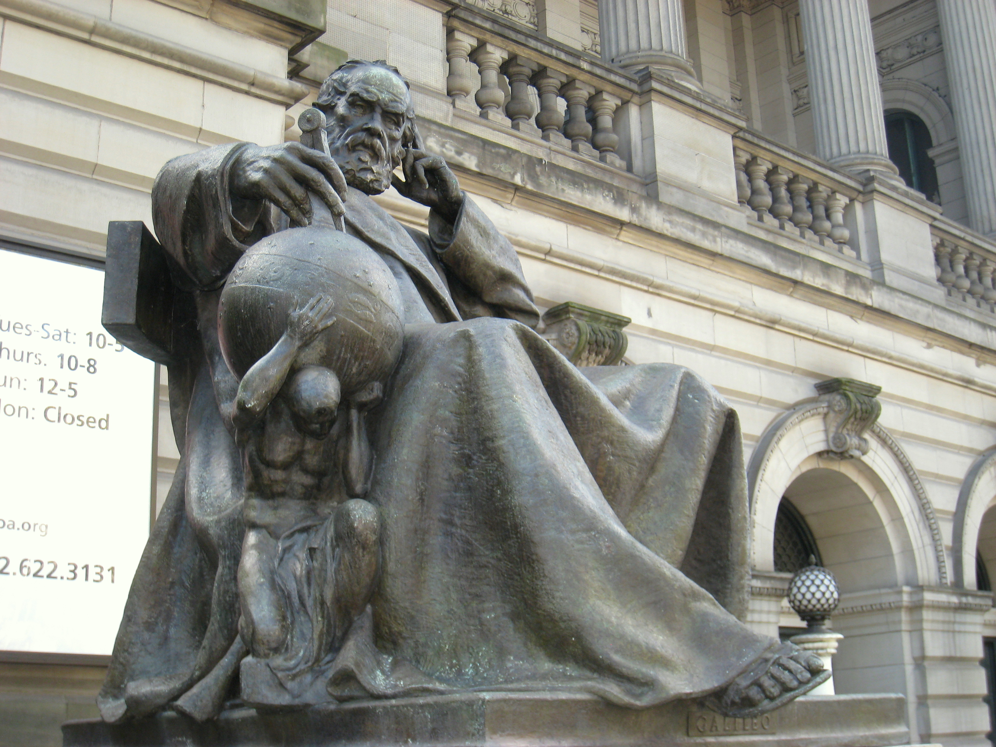 Image result for galileo statue