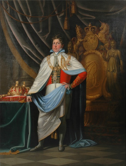 George IV as Knight of Hanoverian Guelphic Order