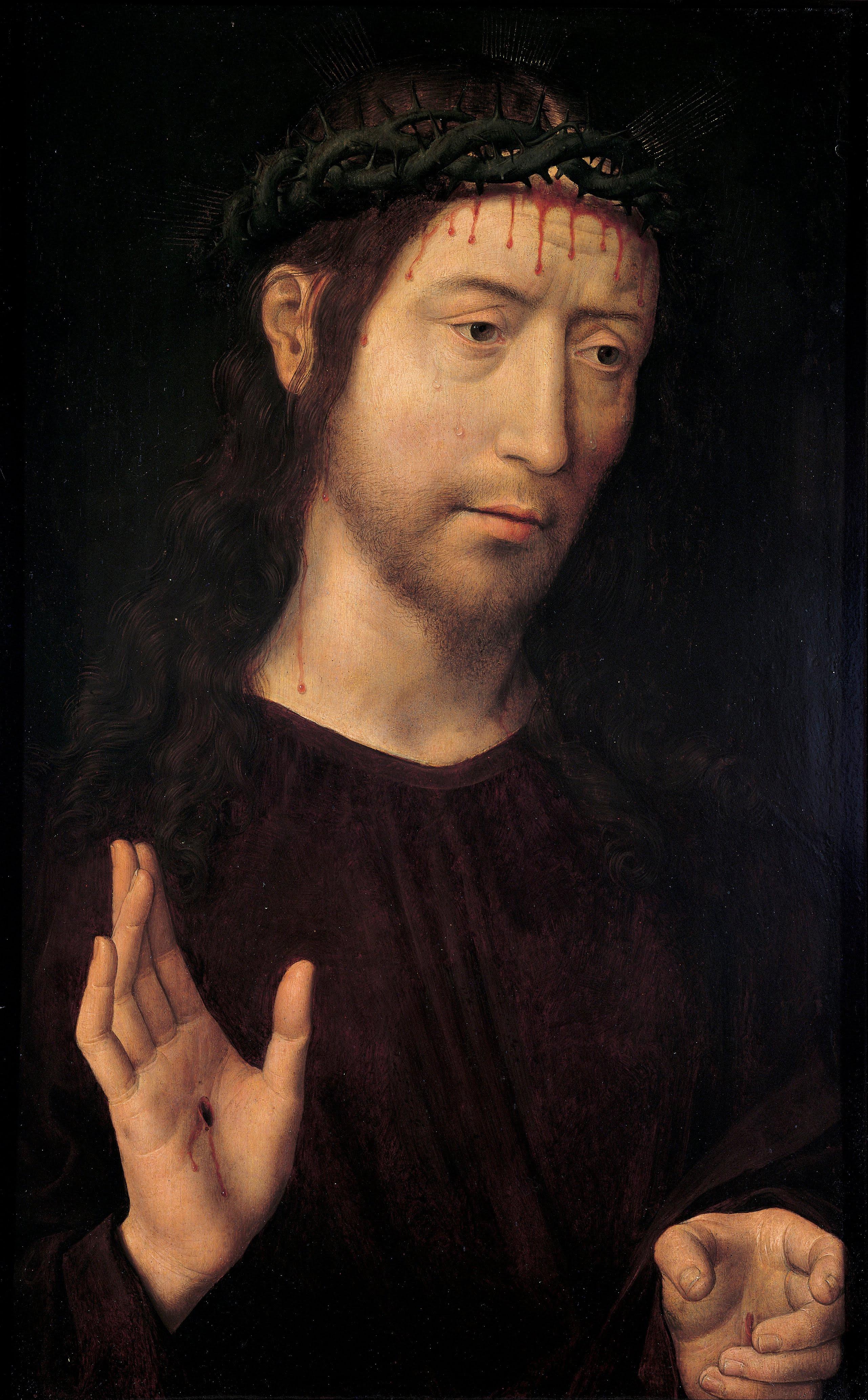 Salvator Mundi Wikipedia >> File:Hans Memling - The Man of Sorrows Blessing - Google ...
