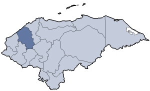 Location of Santa Bárbara department