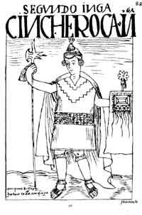 Dibujo del cronista F. Huamán Poma de Ayala