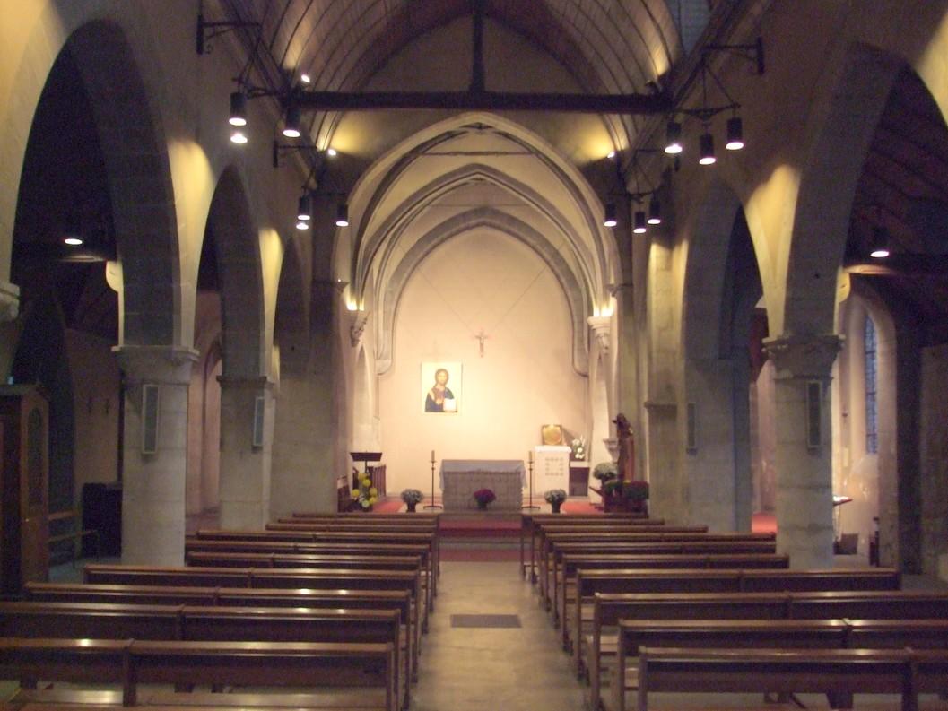 File int rieur eglise saint denys de la for Interieur eglise