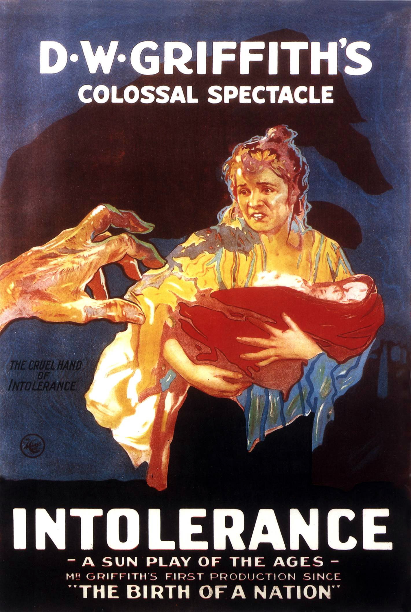 Poster for D. W. Griffith's movie 'Intolerance'