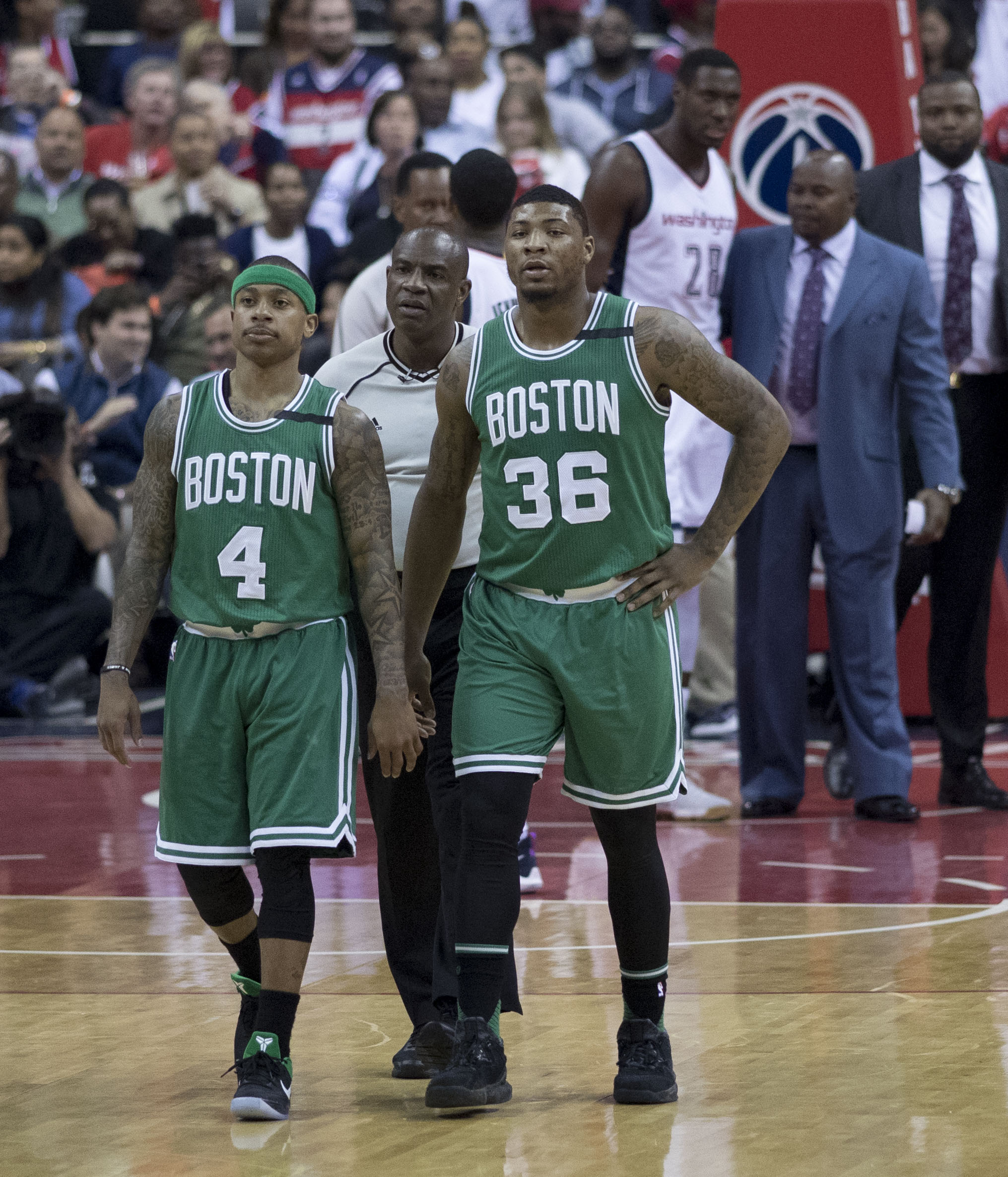 Smart Right In May 2017 With Teammate Isaiah Thomas