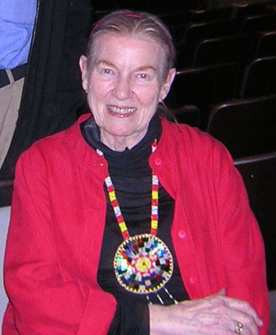 Jean Ritchie after a performance on April 26, 2008.