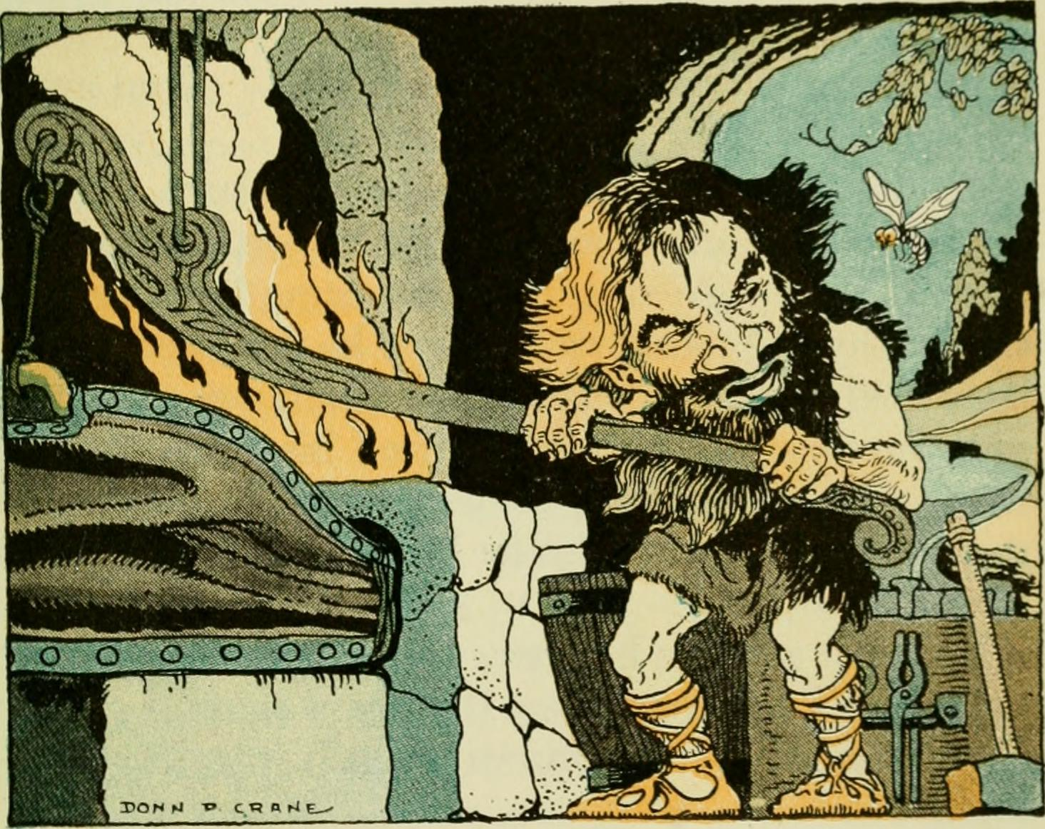 An image of Brokk at his forge.