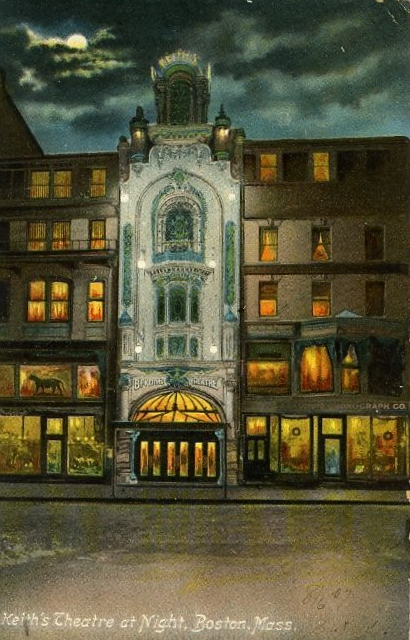 Keith's Theatre, Tremont Street, Boston, c. 1906 (Library of Congress)