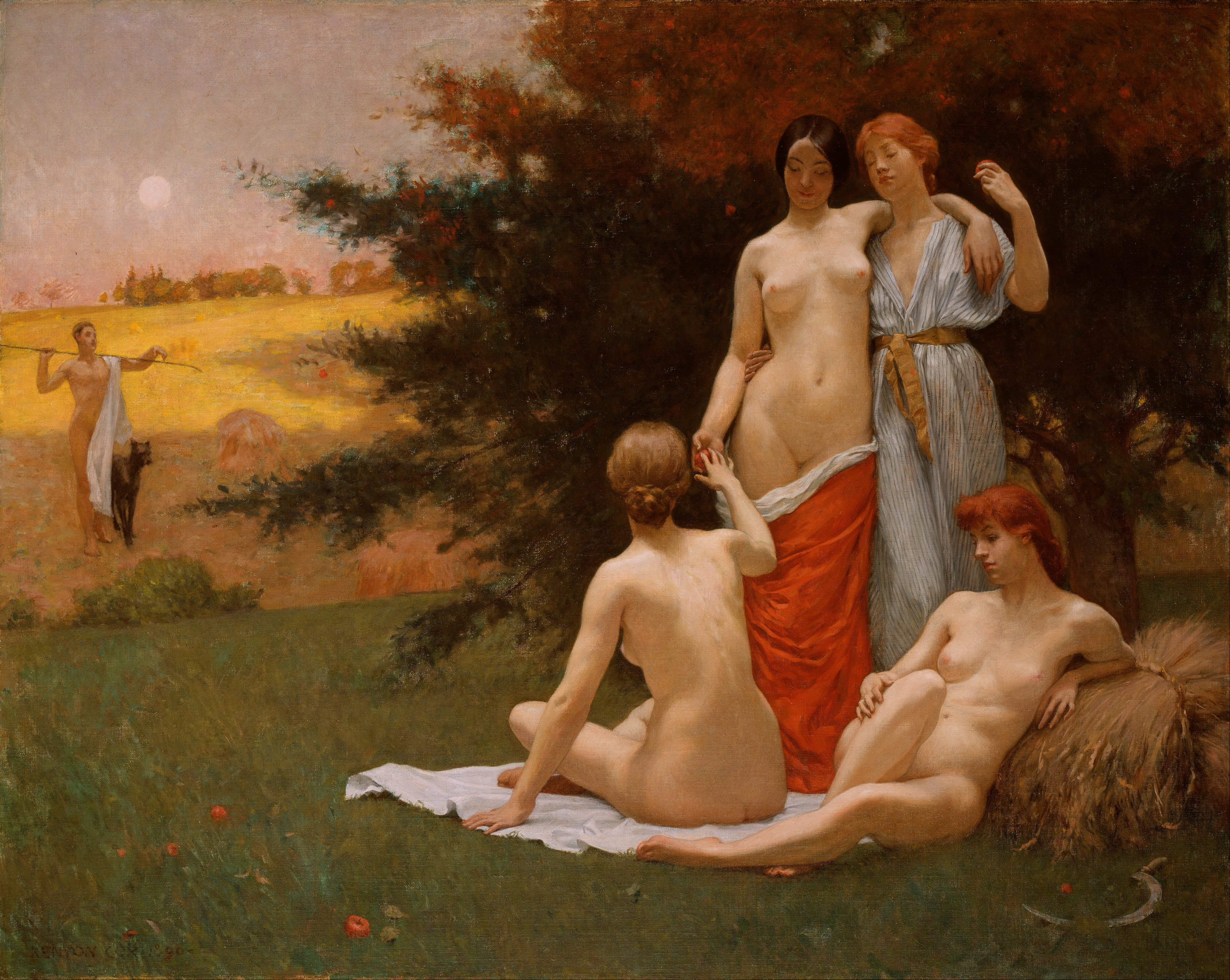 Kenyon Cox, An Eclogue, ca. 1890, Smithsonian American Art Museums