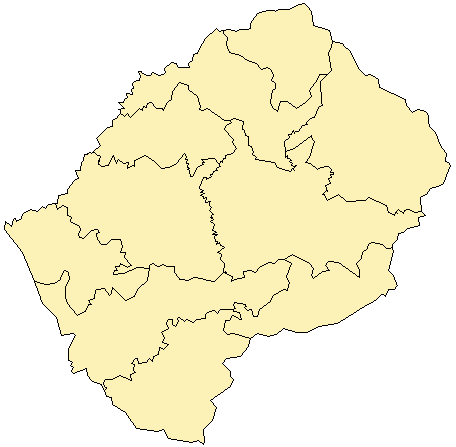 maps of lesotho. images Map of Lesotho Sun