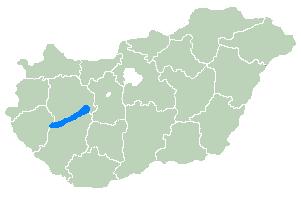 Balaton-järvi kartta