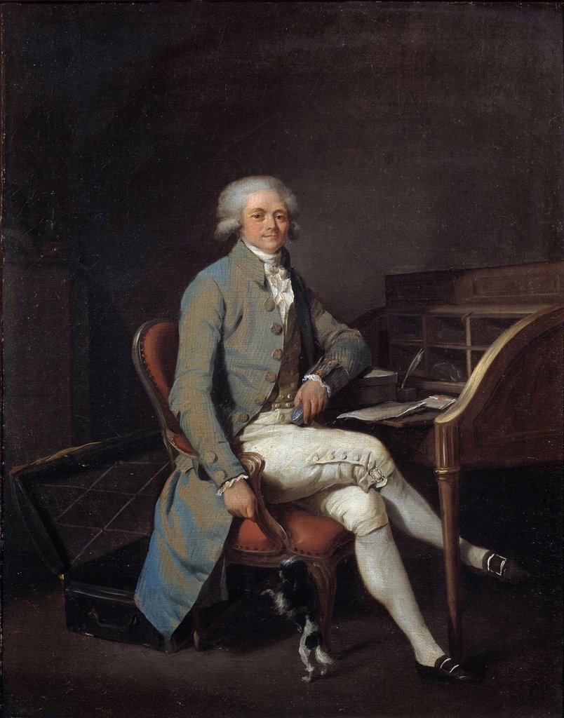 Portrait of Robespierre by Louis-Léopold Boilly, 1791
