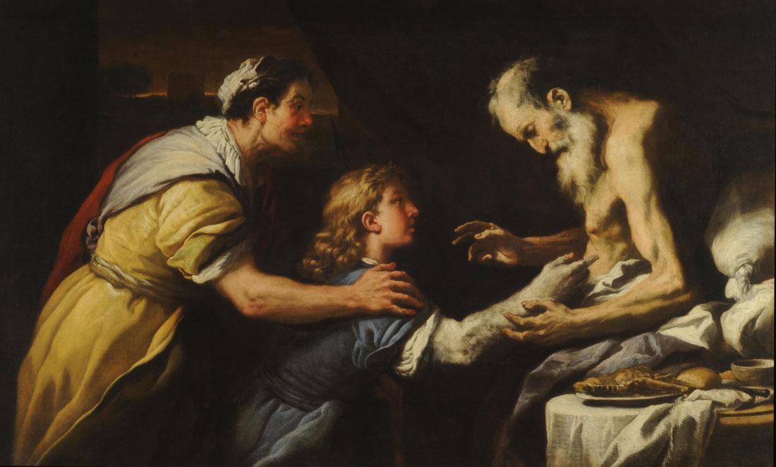 Luca Giordano - Presentacion de Jacob a Isaac.jpg