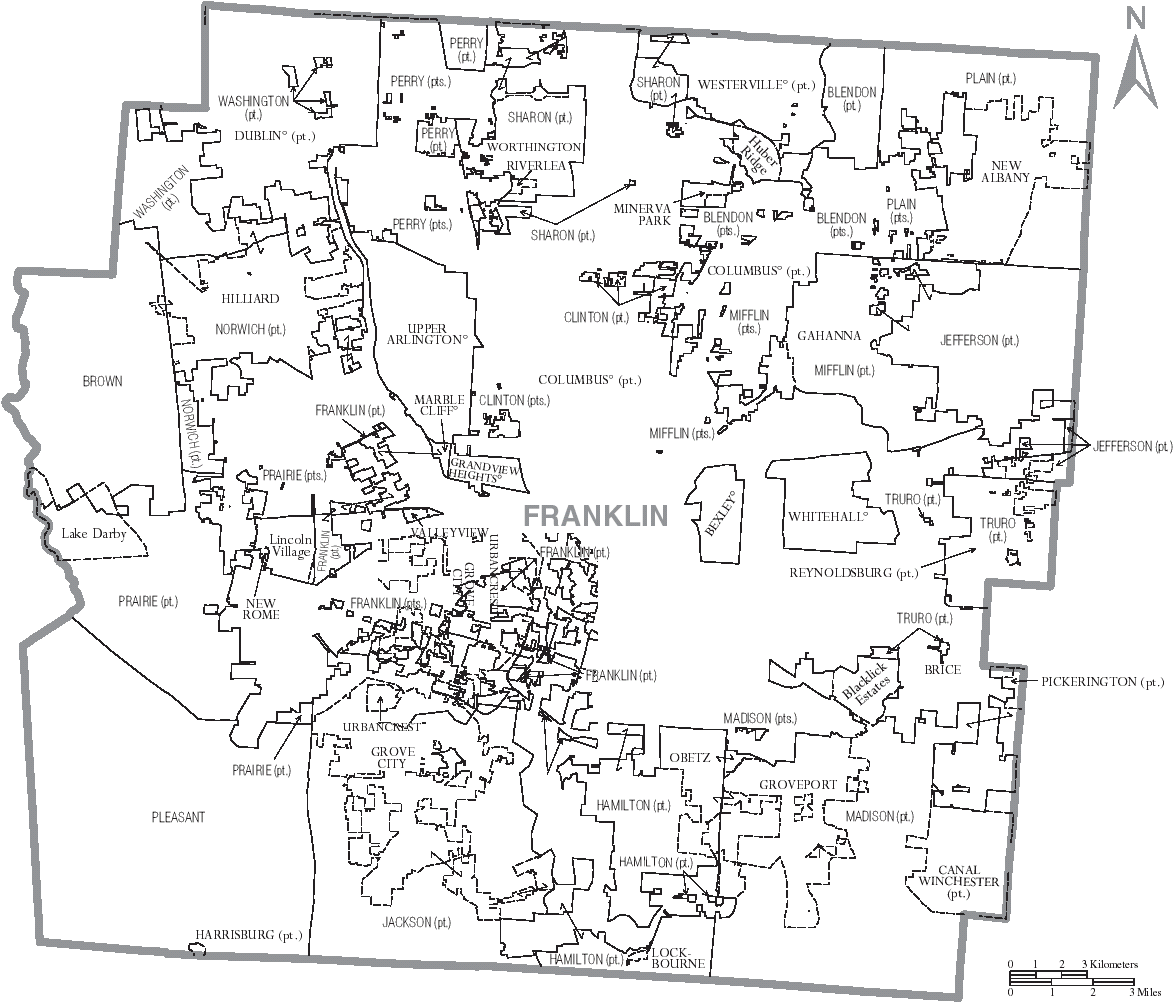File:Map of Franklin Countyfranklin county