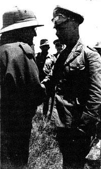 Ugo Cavallero met Erwin Rommel