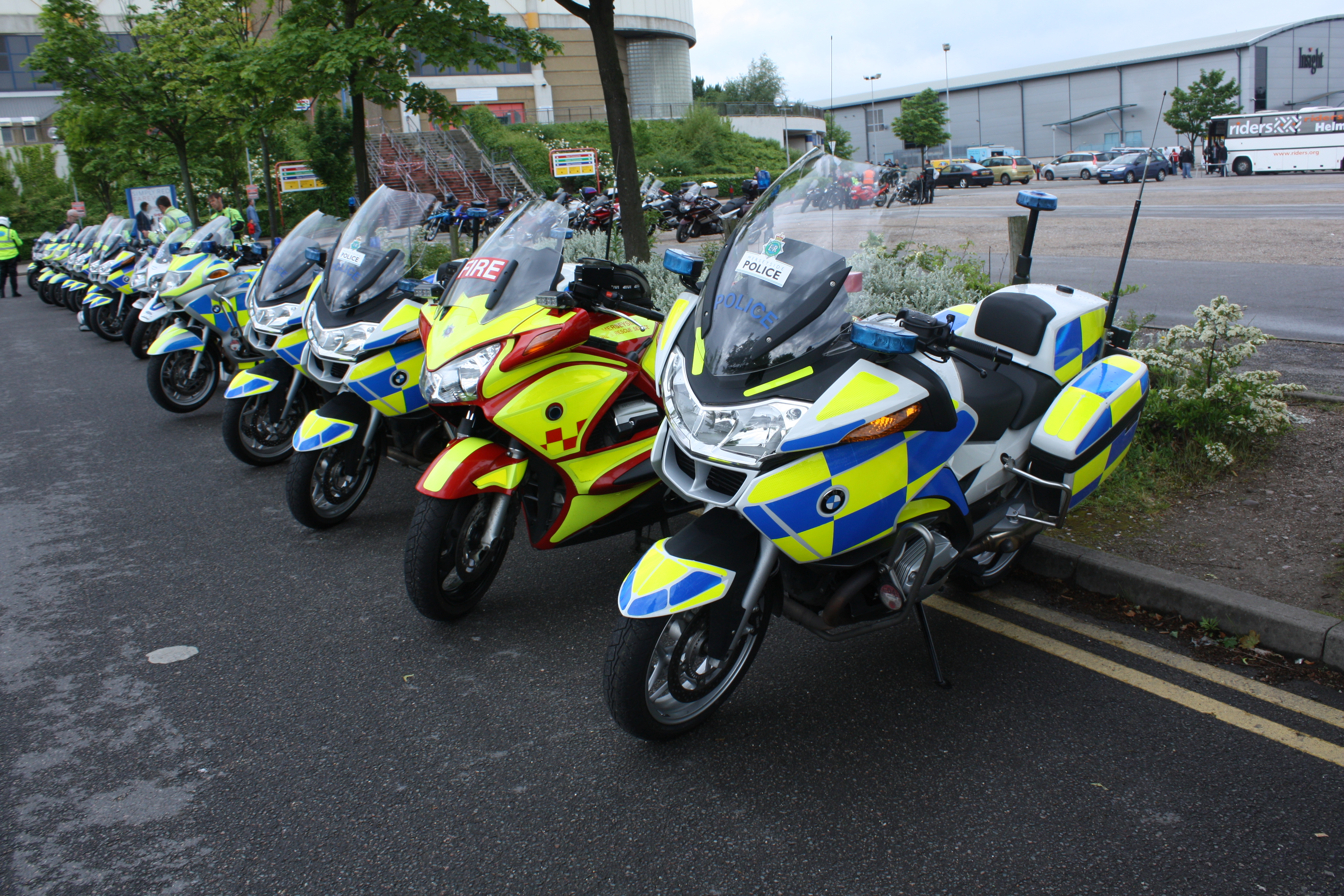 File:Merseyside police and fire motorcycles.jpg - Wikimedia Commons