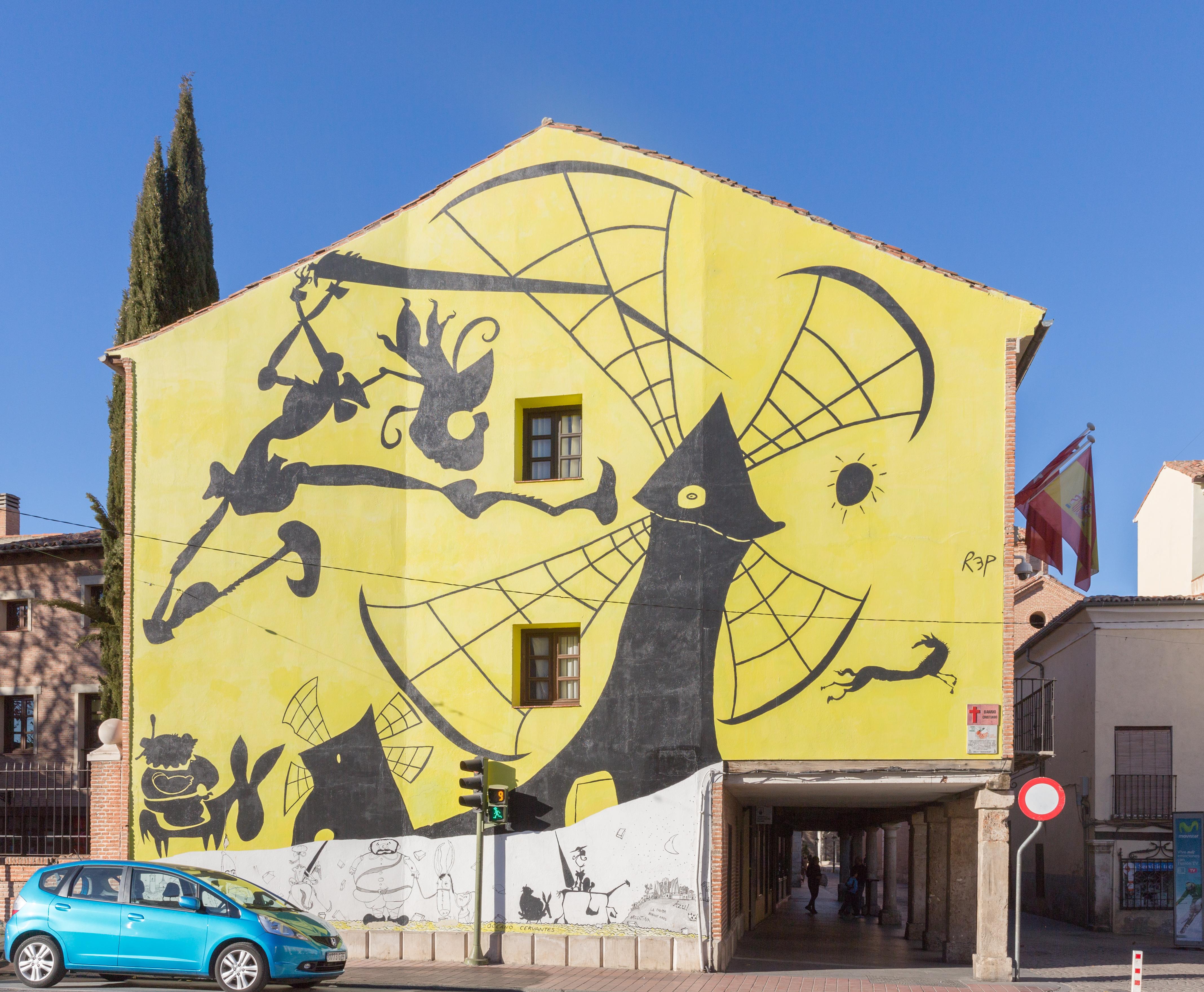 File mural en casa tap n plaza de los santos ni os - Casas regionales alcala de henares ...