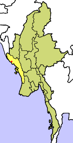 Location of Rakhine (Arakan)-State in Myanmar ...