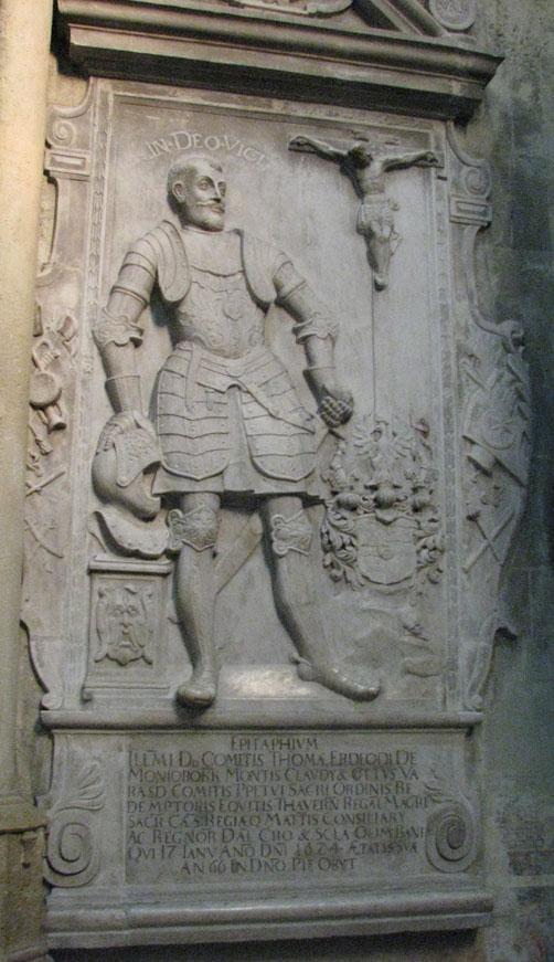Tamás Erdődy gravestone in Zagreb Cathedral