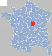 Communes of the Nièvre department Wikimedia list article