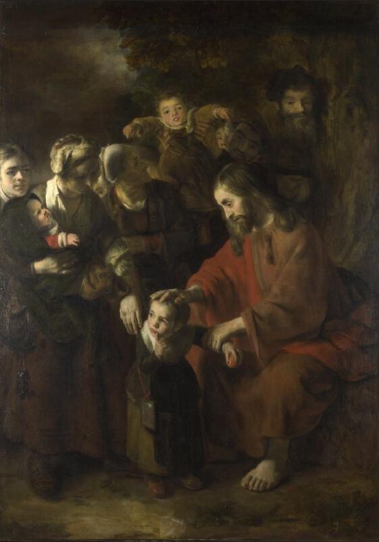 아이들을 축복하는 예수님 (니콜라스 마스, Nicolaes Maes, 1652년)