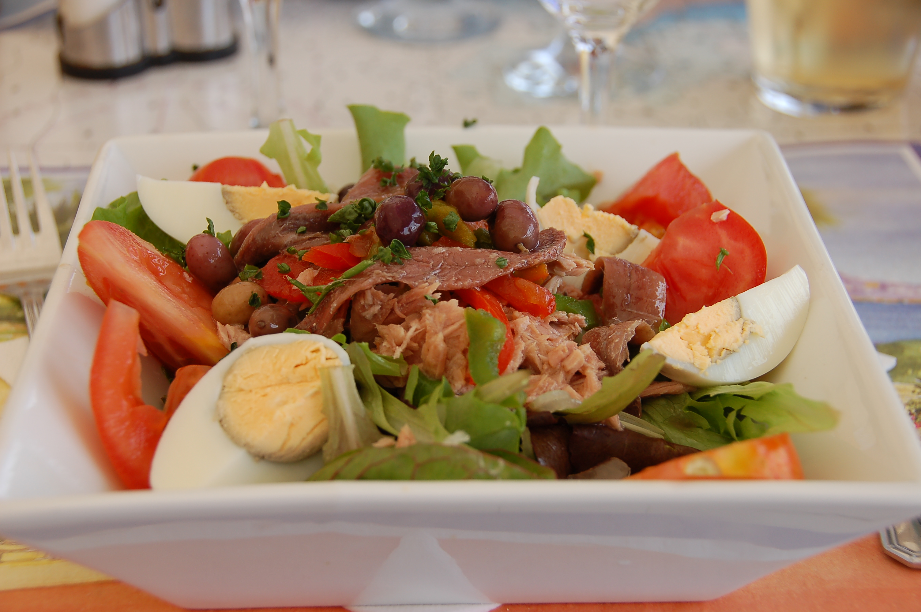 Plate of salad