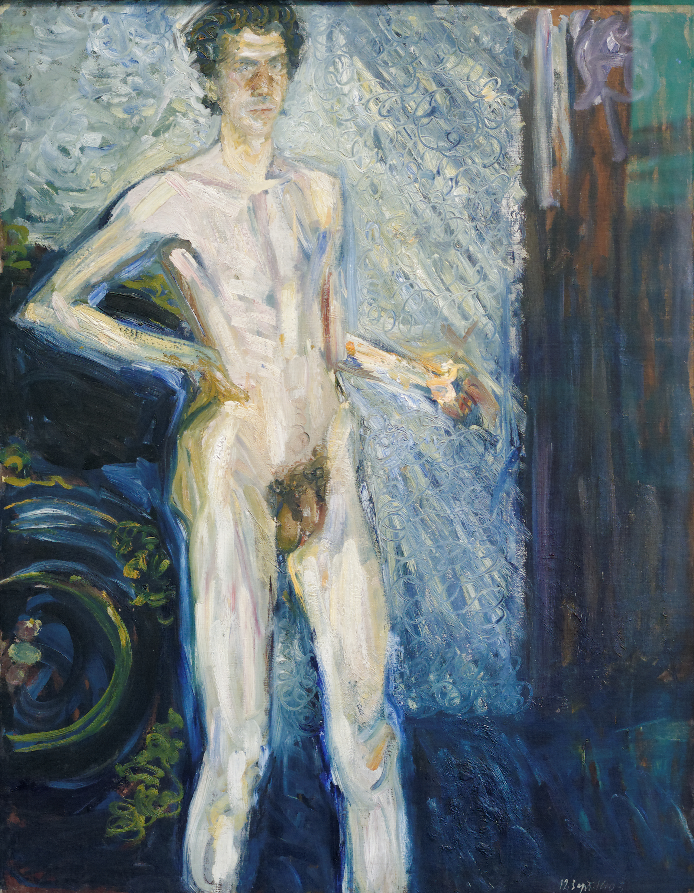 Nude self portrait by Richard Gerstl, 1908 (Wikimedia Commons)