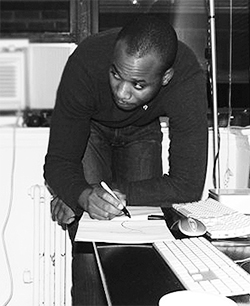 Olufeko in Hollis Queens Studio 2008.jpg
