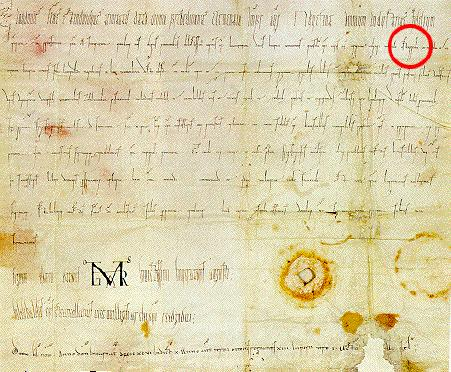 "The first document containing the word ""Ostarrichi"", the word is marked with a red circle. Ostarrichi.jpg"