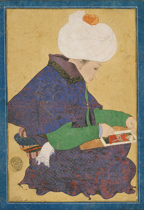 File ottoman dynasty portrait of a painter reign of for Dynasty mural works