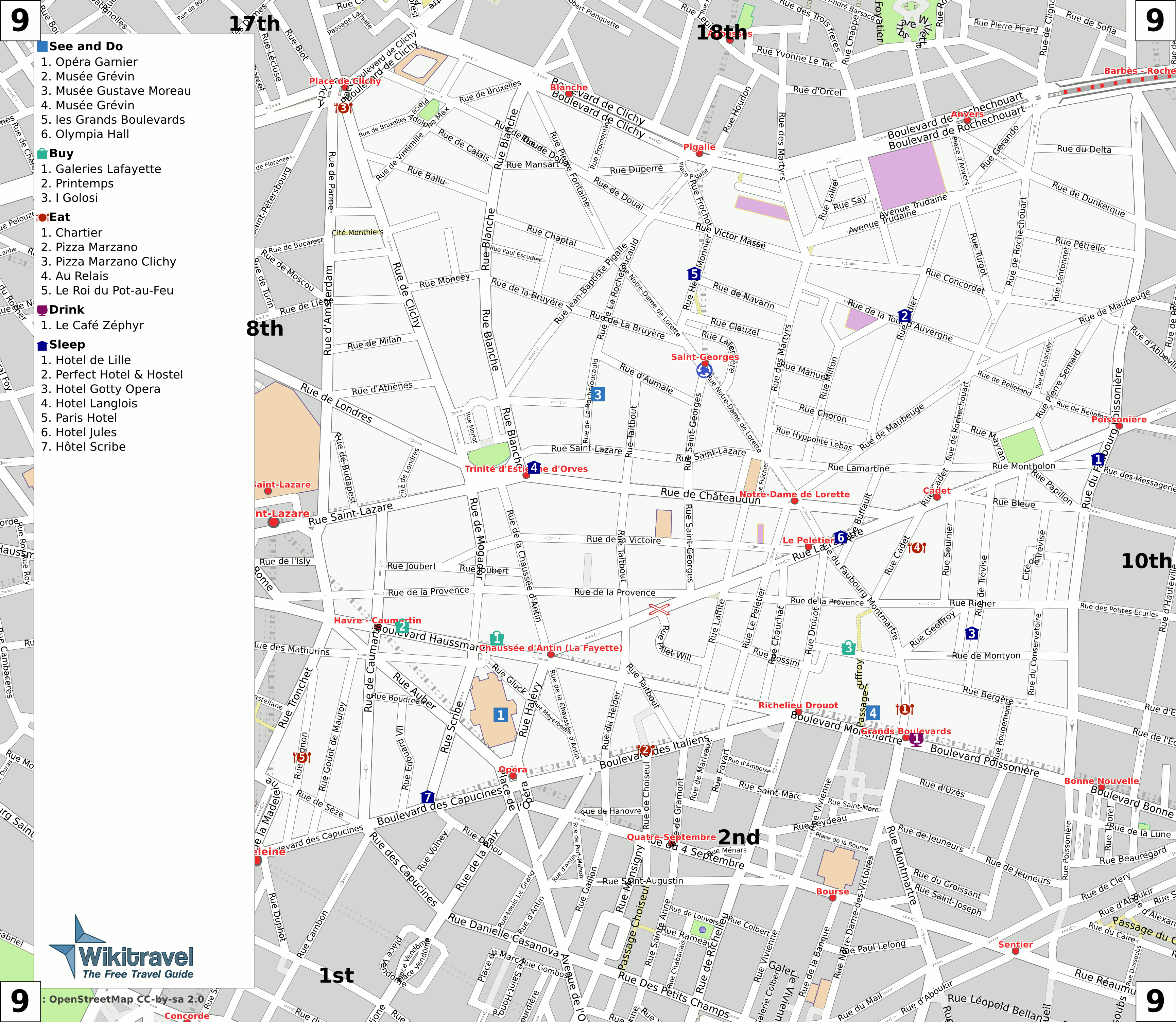 File Paris 9th Arrondissement Map With Listings Png Wikimedia Commons