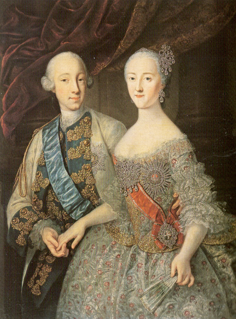Catherine the great and her husband peter of russia
