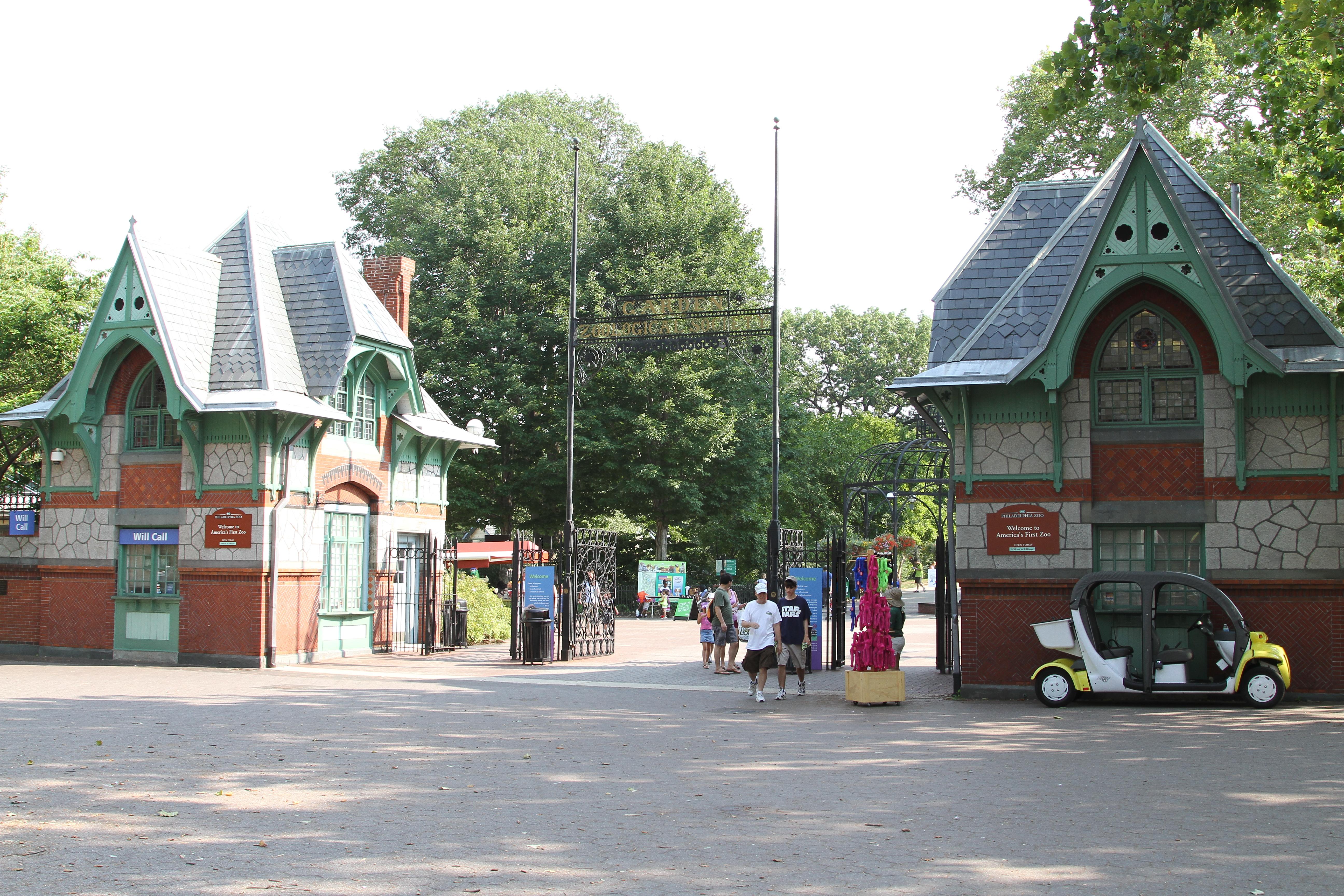 File Philadelphia Zoo Entrance Philadelphia Pennsylvania