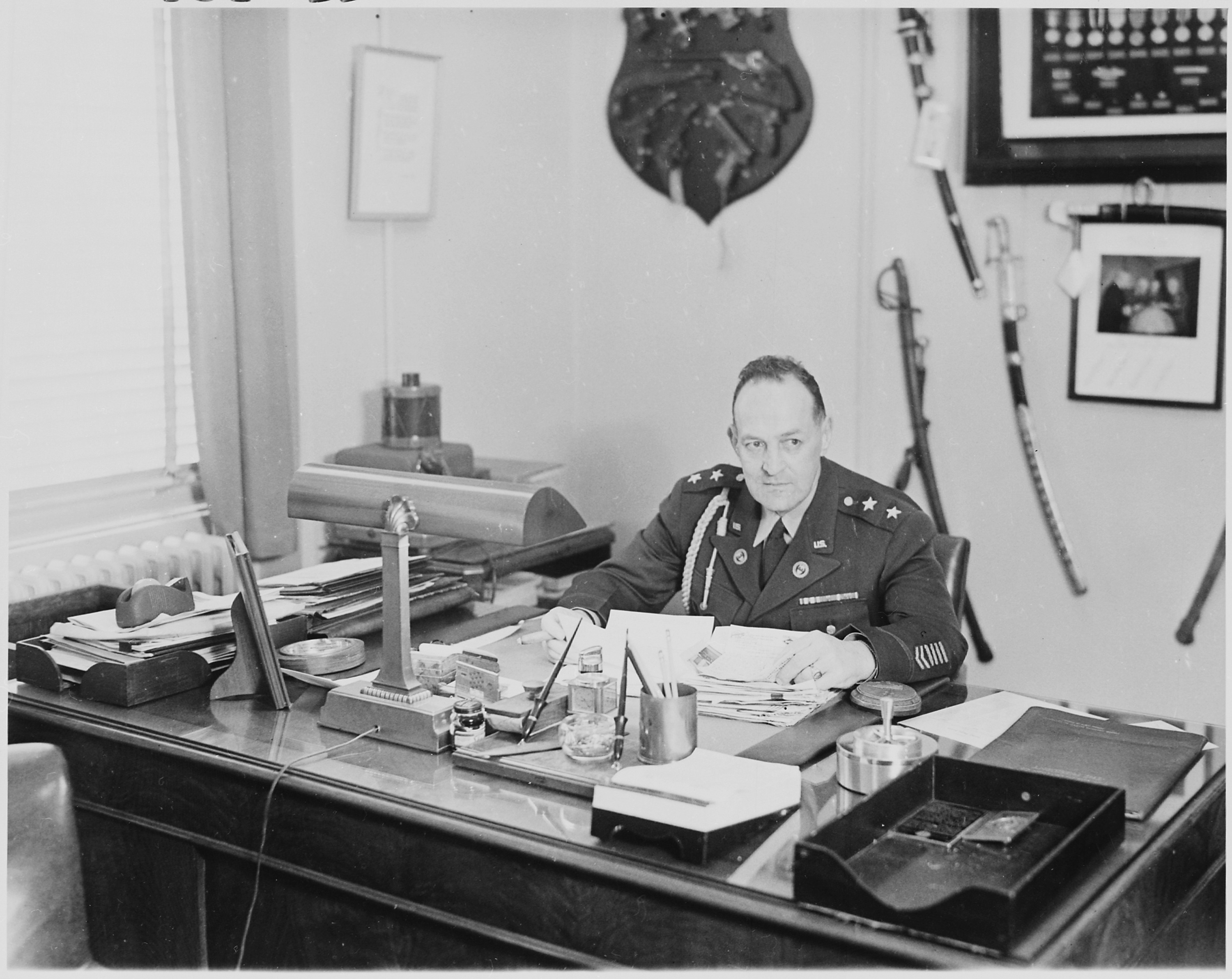 File Photograph Of General Harry H Vaughan Military Aide