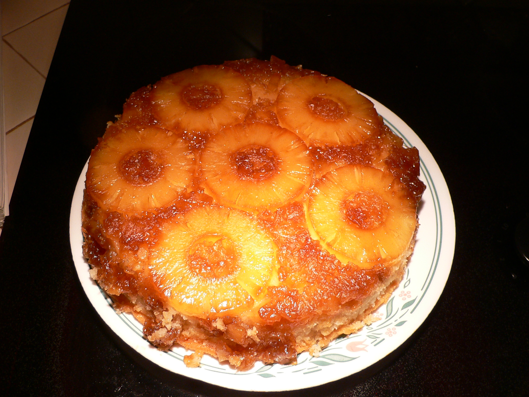 Pineapple Upside Down Cake In A Bundt Pan
