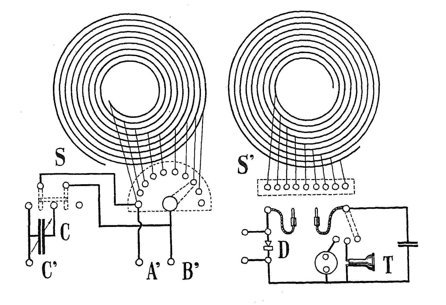 Crystal Radio Am Circuit Https Uploadwikimediaorg Wikipedia Commons 8 88 Receiver 1914