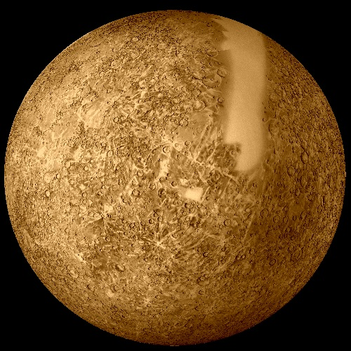 Reprocessed Mariner 10 image of Mercury