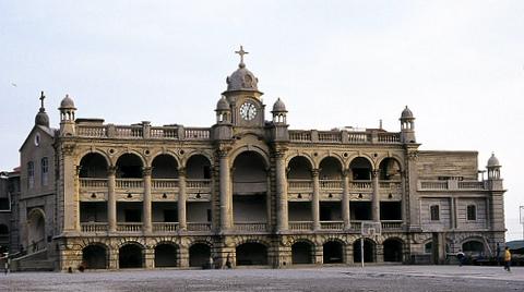 Facade of St. George's College, Mussoorie, estb. 1853