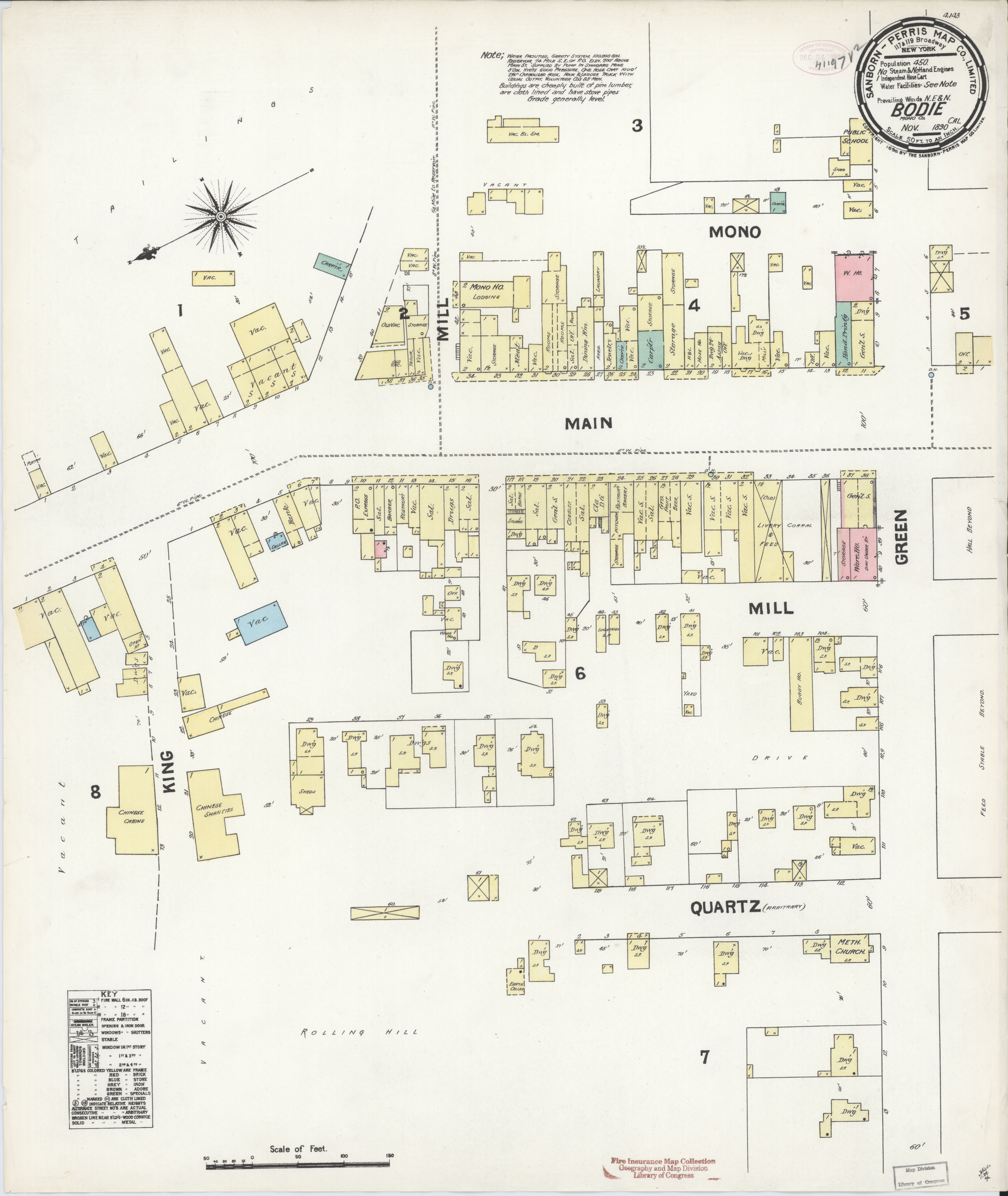 File Sanborn Fire Insurance Map From Bodie Mono County California