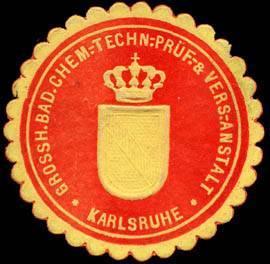File:Siegelmarke Grossherzoglich Badische Chemisch - Technische - Prüf - & Versuchs - Anstalt - Karlsruhe W0227220.jpg