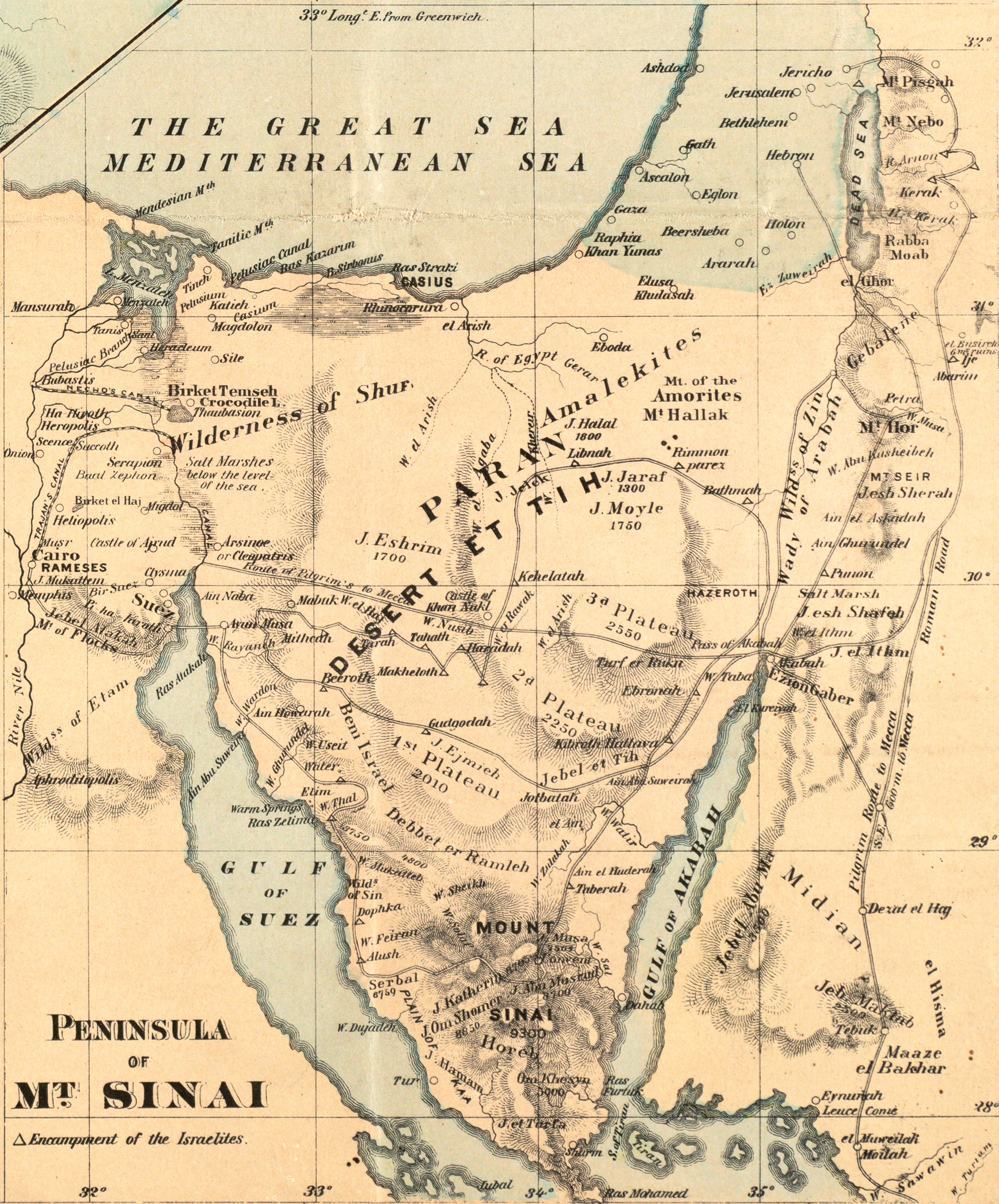 File:Sinai Peninsula. Rawson, A.L. Map of Palestine and all ...