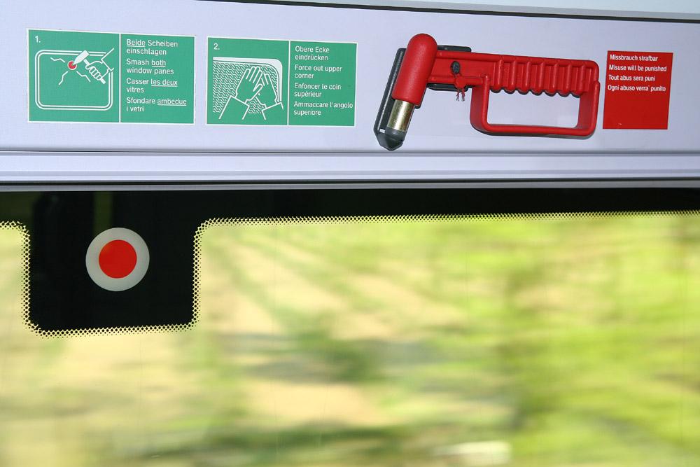 Bus Break Glass Button