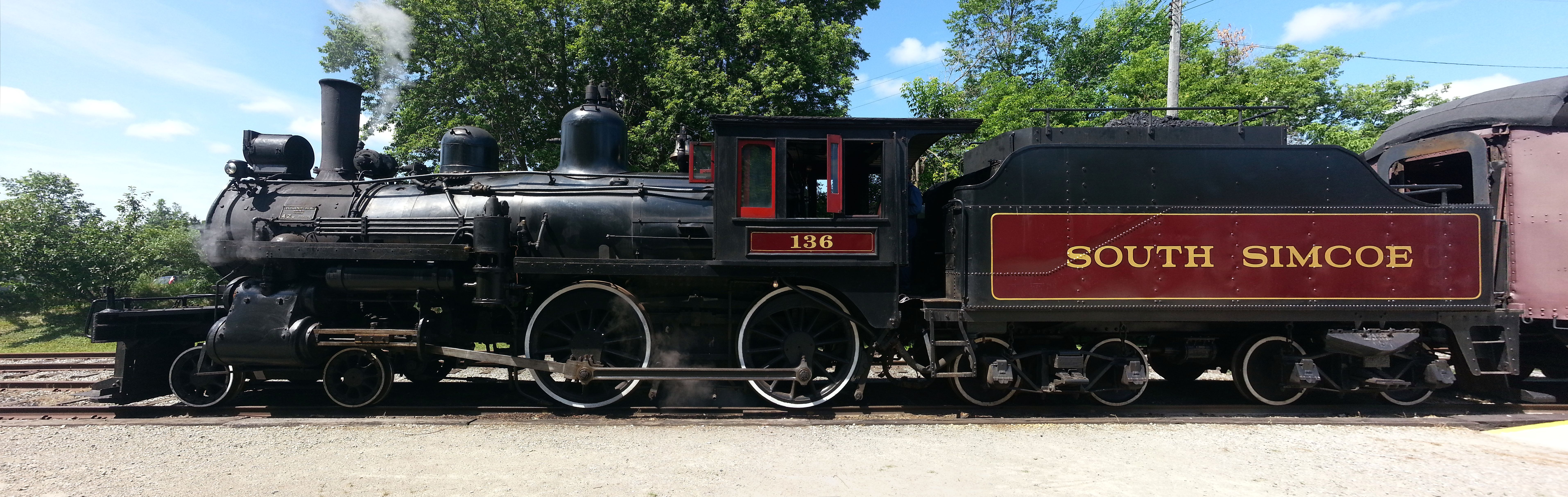 Steam Engine Train Side View