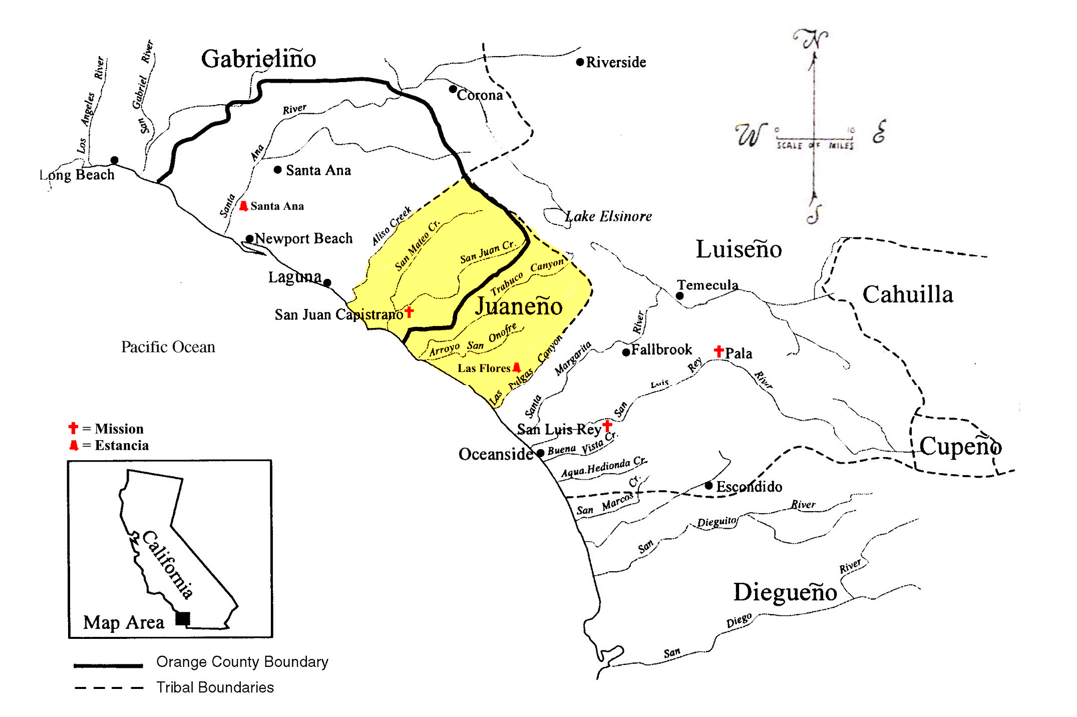 Missions In Southern California Map.File Southern California Indian Linguistic Groups Juaneno Png
