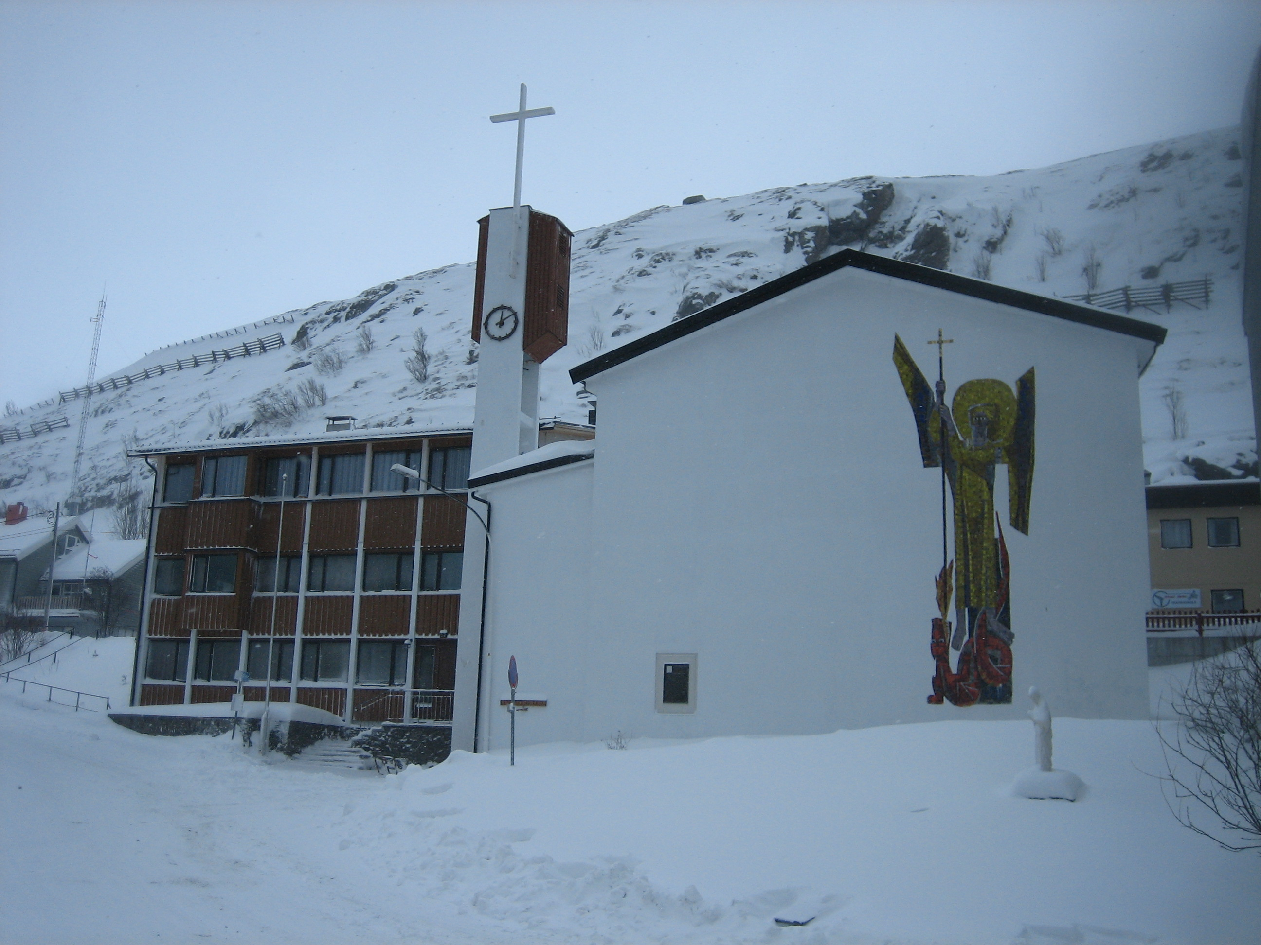 Archangels names and meanings catholic - St Michael S Church In Hammerfest Norway The Northernmost Catholic Church In The World