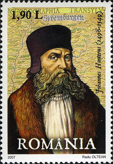Johannes Honterus on a 2007 Romanian stamp