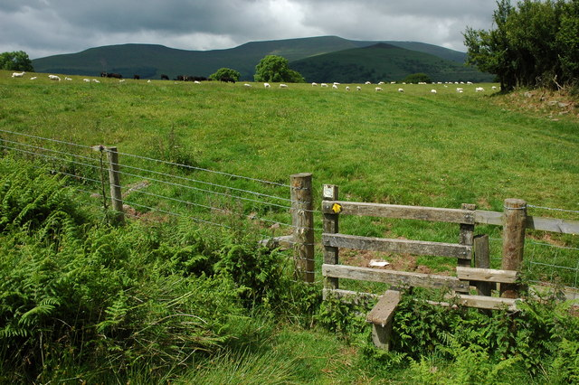 Stile on the Usk Valley Walk - geograph.org.uk - 1377834